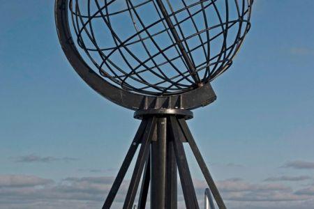 Das Nordkap auf  71°10'12''N /  25°46'53''O  Breitengrad