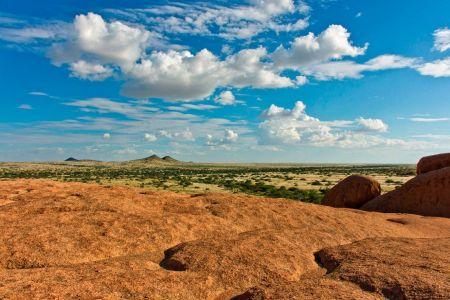 Blick über die Weiten von Namibia