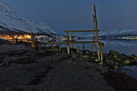Nachtaufnahme am Eismeerfjord